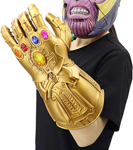 Avengers Infinity War Thanos Gauntlet Cosplay Adult Sz Deluxe  Latex Glove