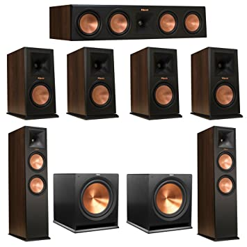 Klipsch 72 Walnut System With 2 RP 280F Tower Speakers 1 450C