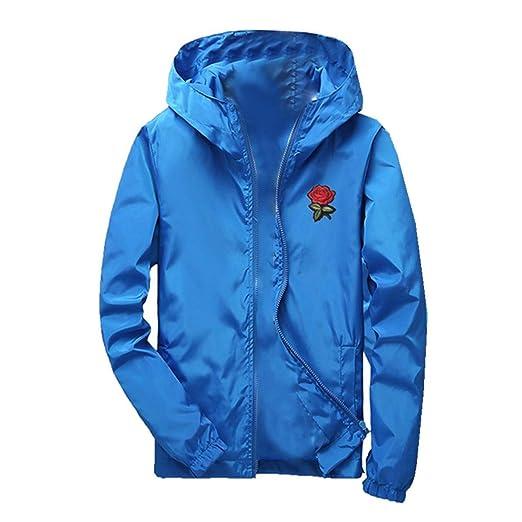 ... Chaqueta con Capucha Superior de Blusa Color sólido de la Cremallera de los Deportes del otoño de los Hombres Ocasionales del Camisetas con Capucha ...