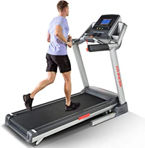 RUNOW Folding Treadmill, Auto Incline Treadmills for Home 3.5 HP Bluetooth Electric Running Machine with LCD Monitor for Walking Jogging Exercise