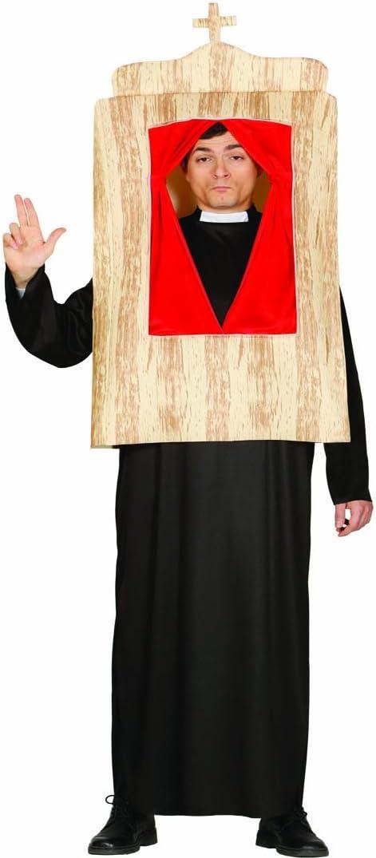 Amakando Traje de Pastor Incl. confesionario Disfraz de Cura L 52 ...