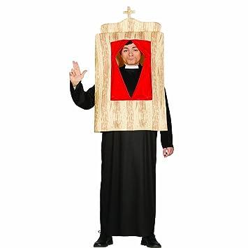 Amakando Traje de Pastor Incl. confesionario Disfraz de Cura ...