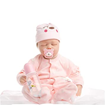 Amazon.es: SanyDoll Reborn bebé muñeca suave silicona 55, 88 ...