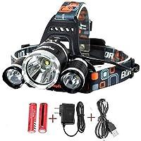 Best Sellers LED Headlamp20000 Lumen flashlight IMPROVED LED- Rechargeable 18650 headlight flashlights Waterproof Hard…