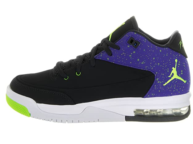 Amazon.com   Jordan Nike Kids Flight Origin 3 Bg Black/Electric Green Concord Basketball Shoe 4 Kids US   Basketball