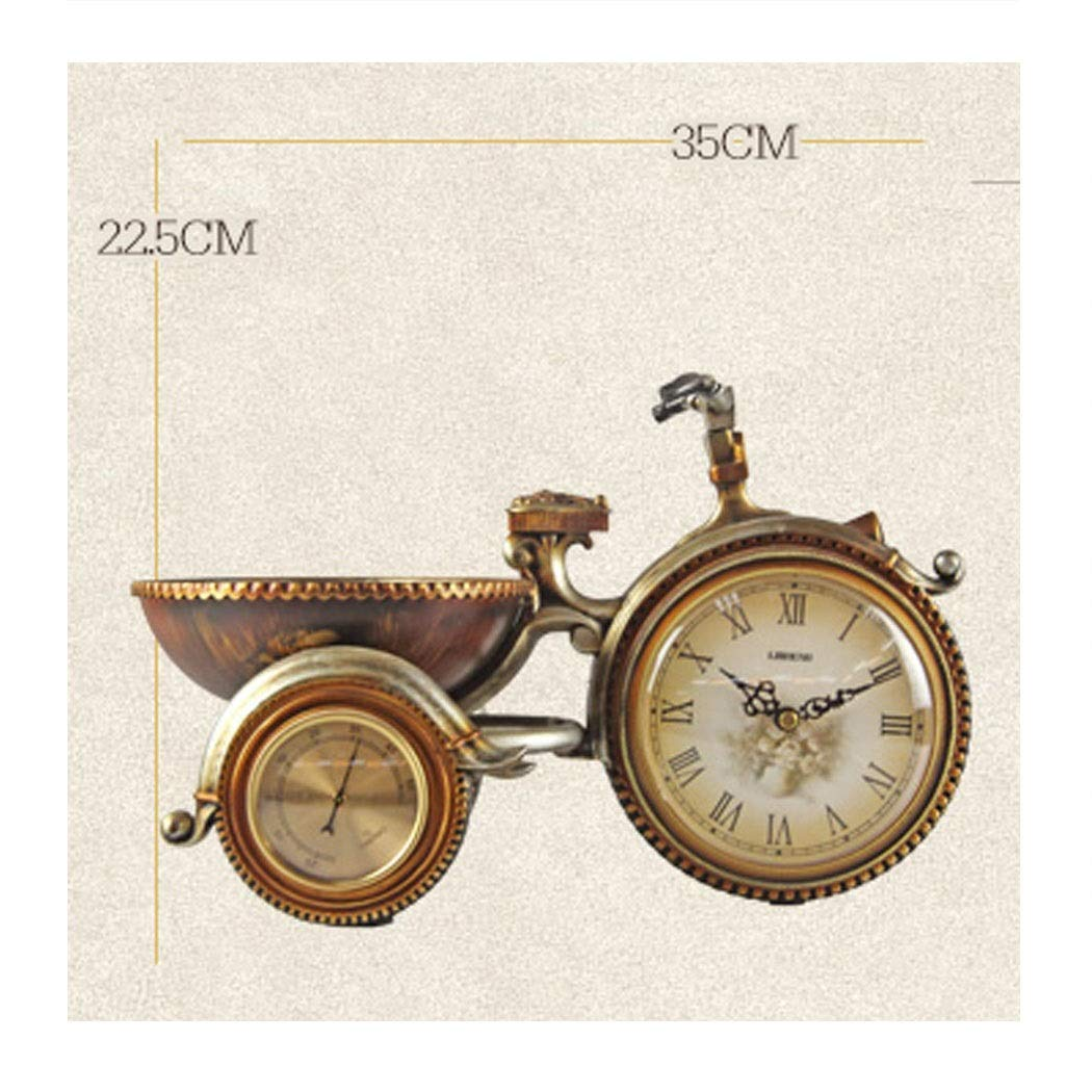 HONGNA European Retro Plastic Clocks Living Room Clock Tricycle Decorative Ornaments Personality Creative Table Clock Art Table Clock Environmentally Friendly Material 22.535cm (Size : 22.535cm) by HONGNA (Image #2)
