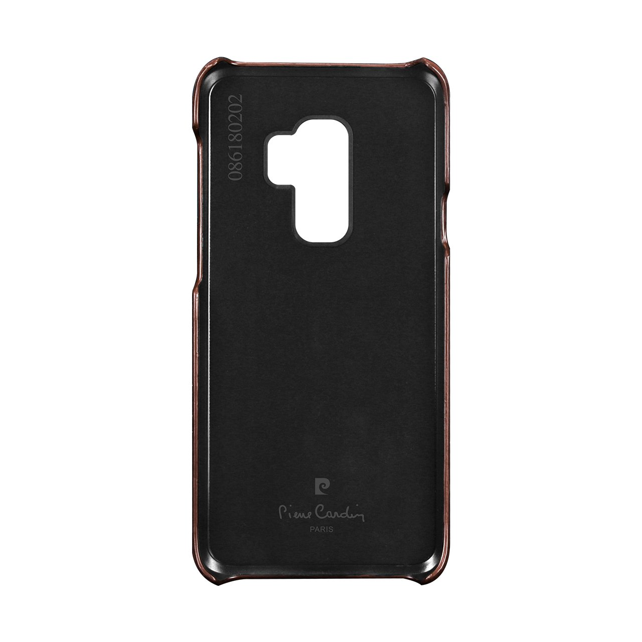 Samsung Galaxy S9 Plus,S9+ Leather Case,Pierre Cardin Premium Genuine Cow Leather Back Case Snap Cover Classical Business Style fit for Samsung Galaxy S9 Plus,S9+ (Dark Brown)