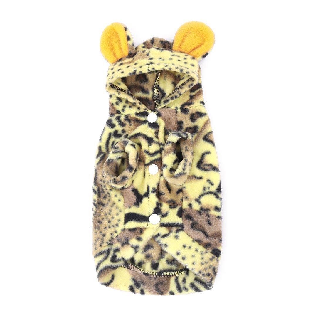 Amazon.com : eDealMax Mezclas de algodón Tigre Modelo de la piel del perro casero perrito ropa de Abrigo Negro Amarillo : Pet Supplies