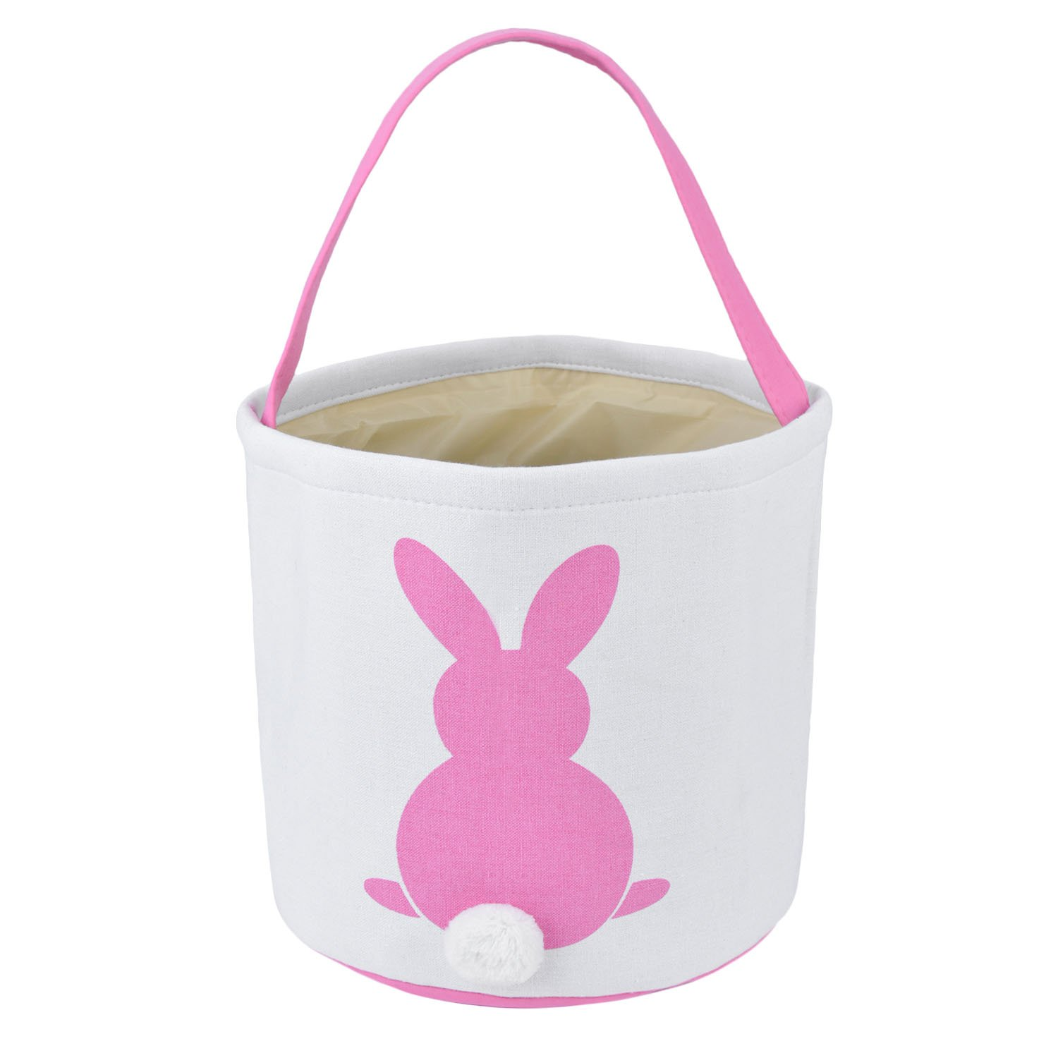 Amazon foldable easter basket easter bunny bag easter eggs easter basket coxeer canvas storage basket easter bunny gift bag easter candy eggtote bag for negle Image collections