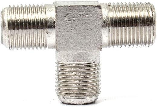 Zhouchenchen Hilo de Plata 5 x F zócalo T Splitter Cable ...