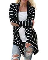 Hot Sale!Women Cardigans,Canserin Women's Casual Long Sleeve Black White Stripe Cardigans Patchwork Outwear Size US 4-14