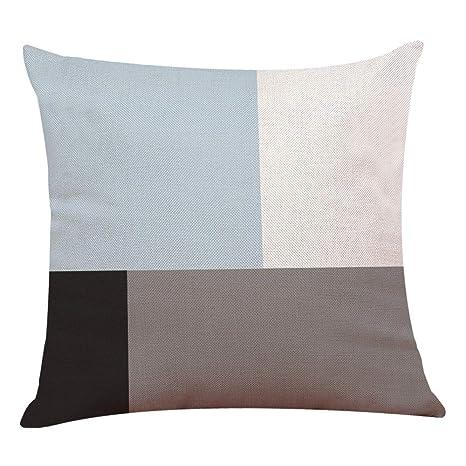 Funda de Almohada de Lino de algodón Decoración para el ...