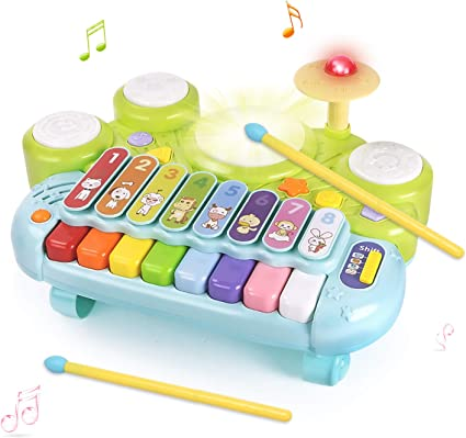 Kid Boy Girl Toddler Baby Educational Toy Music Light up Mobile Cell Phone Toys