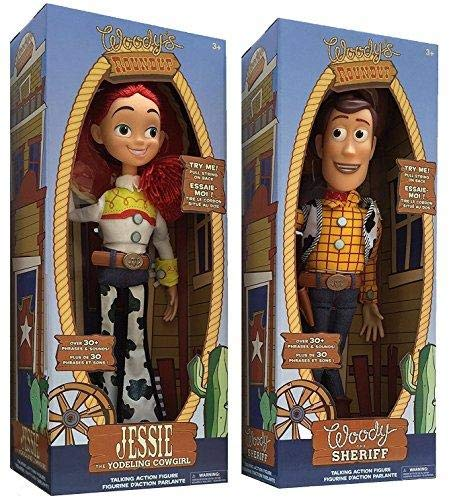 Disney Store Exclusive Toy Story 3 Talking Woody and Jessie Dolls -