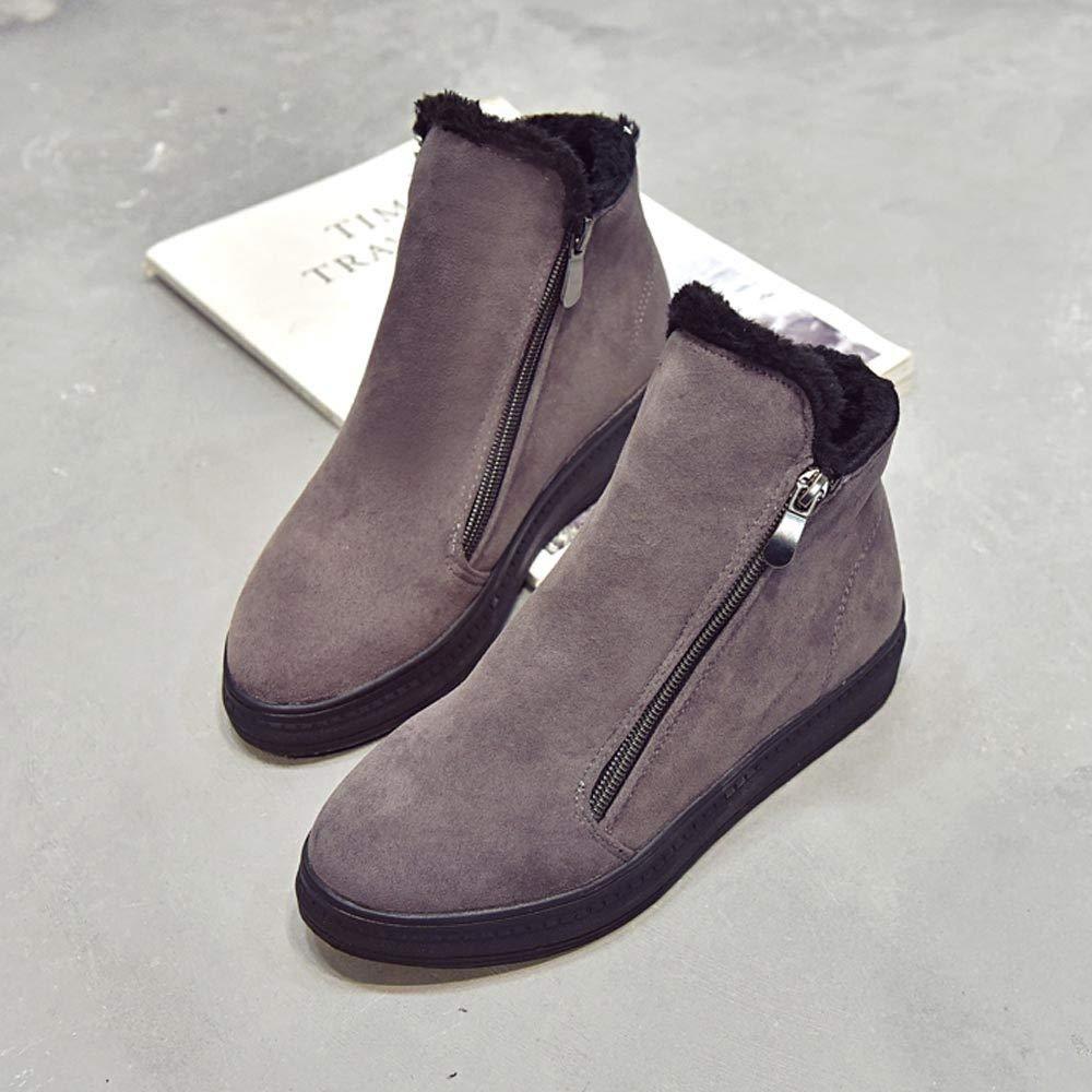 ZODOF Botas de Nieve para Mujer Botas Flockr para Mujer Tacones Bajos Botas para la Nieve de Invierno Botines para Mujer Zapatos: Amazon.es: Ropa y ...