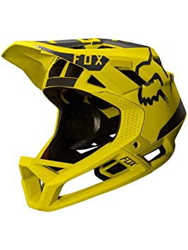 Fox Proframe Moth - Cascos integrales - amarillo/negro Contorno de la cabeza XL|