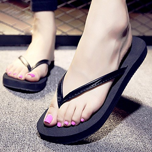 los manera girs la Black de de para womam Chanclas pares y Sandalias manera de sandalias sandalias la muchachos MEIDUO sandalias cómodo wZnq4IOgf