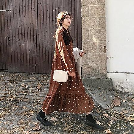 XXIN / Gasa Vestido De Manga Larga Mujeres/Camisa Falda Falda ...