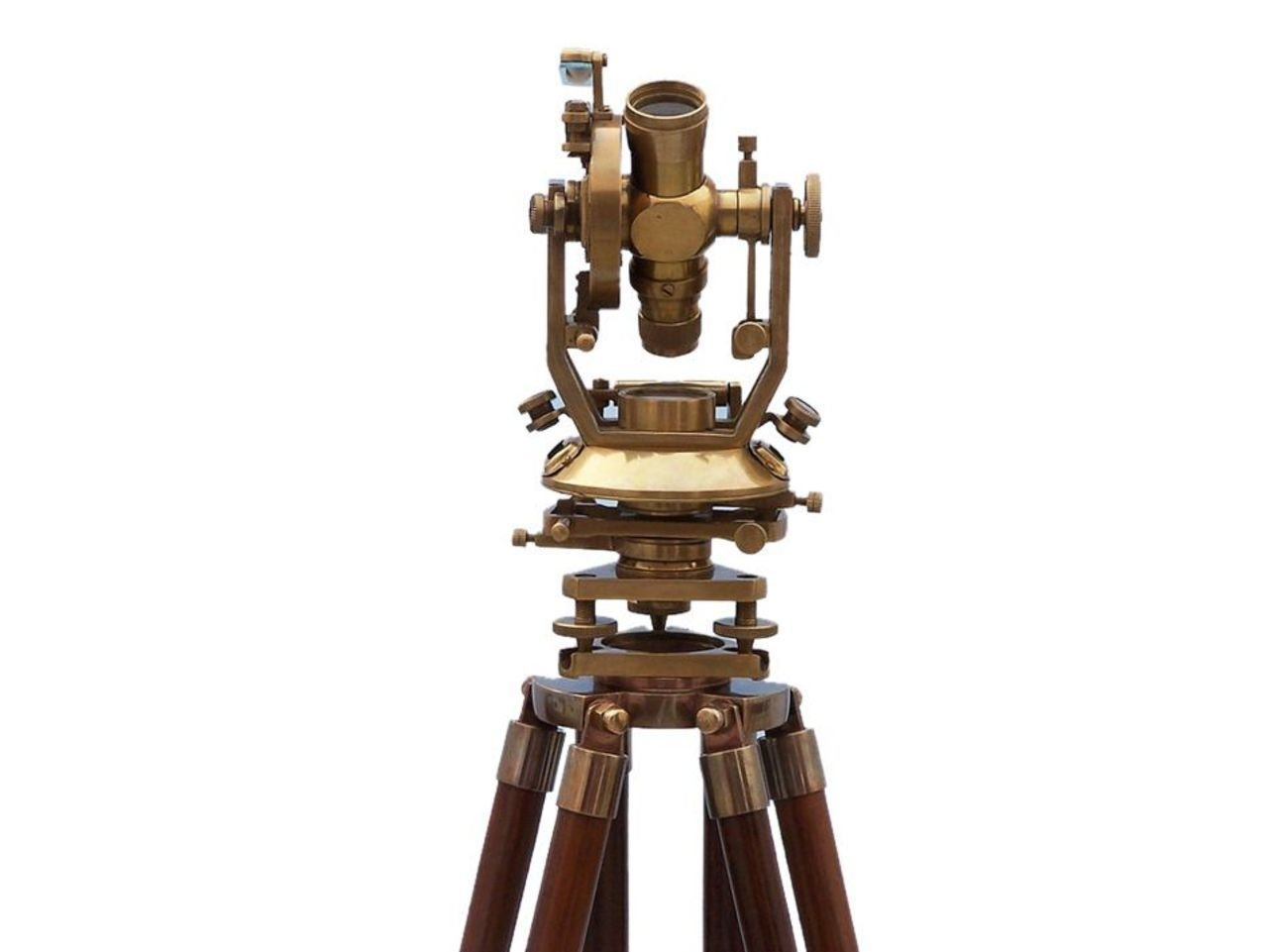 Hampton Nautical  Floor Standing Theodolite Leveling Instruments Instrument, 62'', Brass
