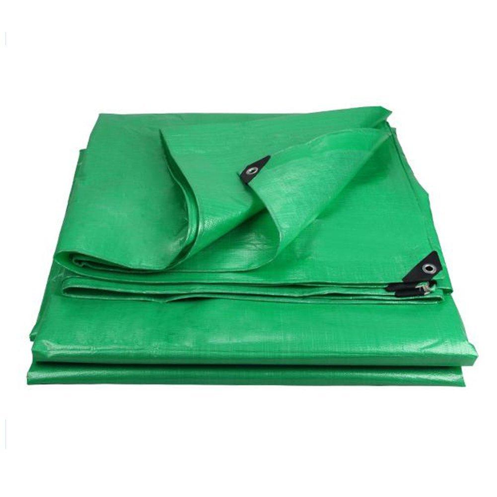 QINCH Regenfestes Tuch wasserdicht Grüne Wasserdichte Plane, Wasserdichte LKW-Abdeckung, Sonnenschutz für den Außenbereich staubdicht und Winddicht, hochtemperaturBesteändig und Anti-Aging,