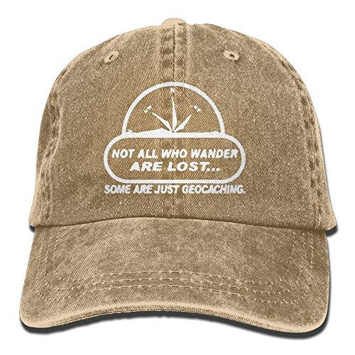 E-Isabel Wander Lost Geocaching Adjustable Breathable Cotton Washed Denim Hat - Online Mirror Webcam