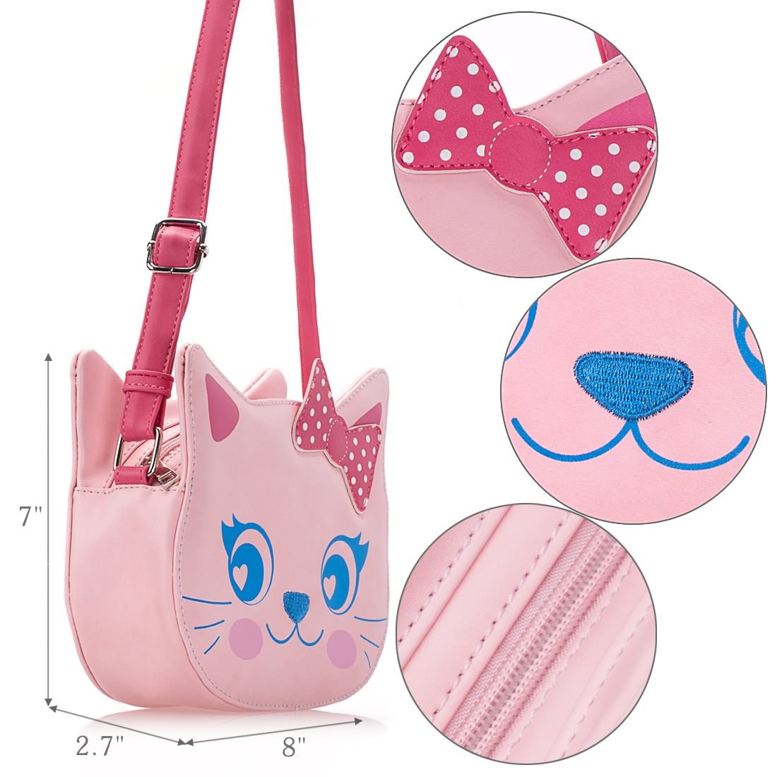 42a8a000ed98 Ava    Kings Little Girl Faux Leather Fun Design Shaped Purse Handbag  Bundle Monster