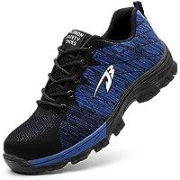 Zapatos de Seguridad Hombres con Puntera de Acero Hombre Mujer Transpirables Zapatillas de Senderismo Deportivas…