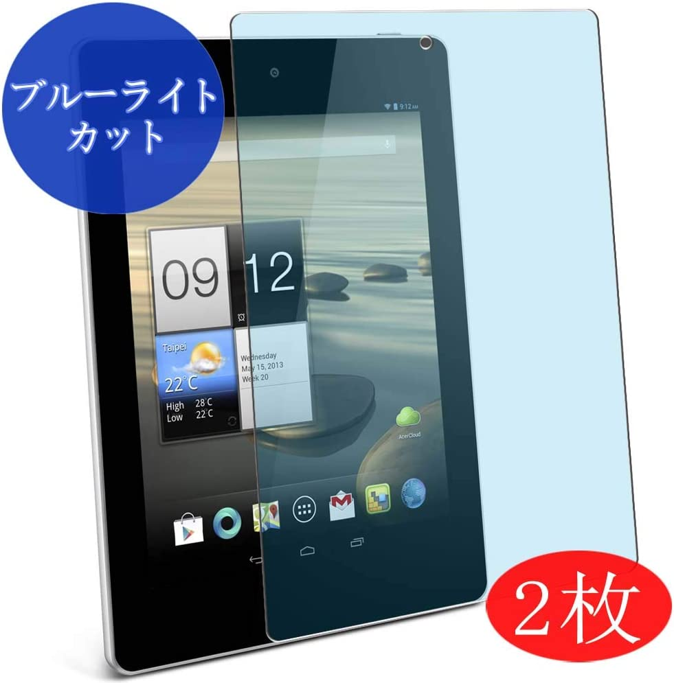 """【2 Pack】 Synvy Anti Blue Light Screen Protector for Acer Iconia Tab A1-810 7.9"""" Anti Glare Screen Film Protective Protectors [Not Tempered Glass]"""