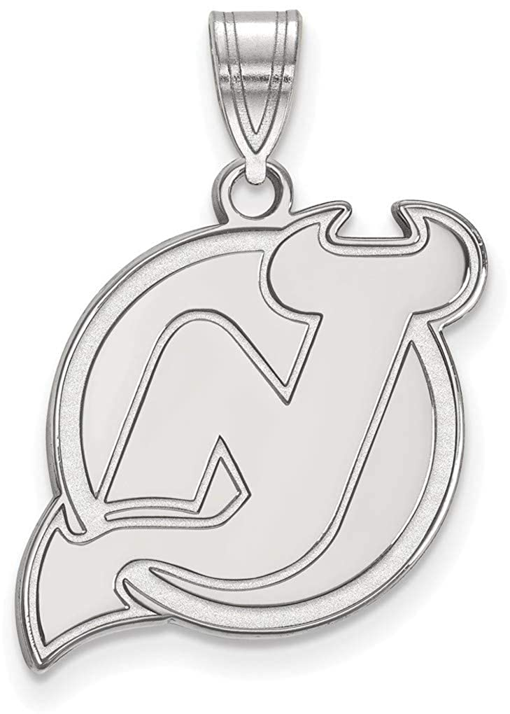Sterling Silver NHL New Jersey Devils Large Pendant by LogoArt