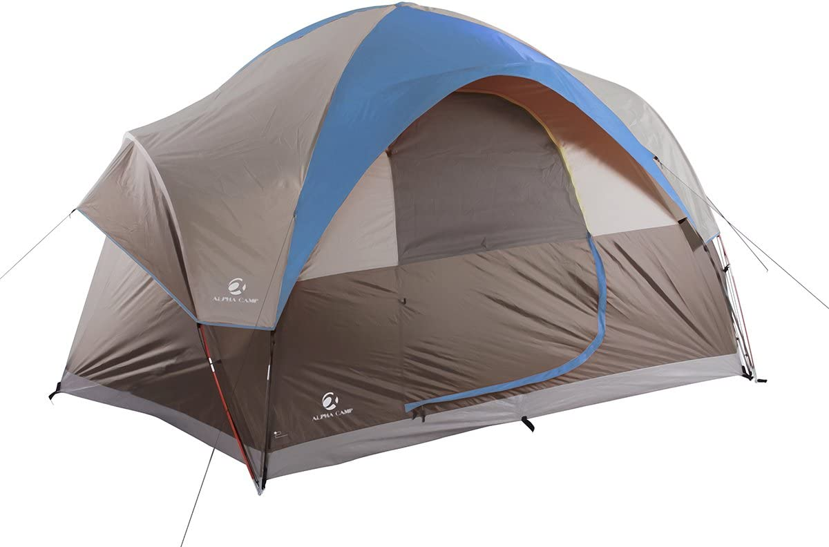 Camp Tent for 6 Person 4 Season Use Pop up Dome Tent Portable Lightweight with Carry Bag for Outdoor Picnic Hiking Camping Beach