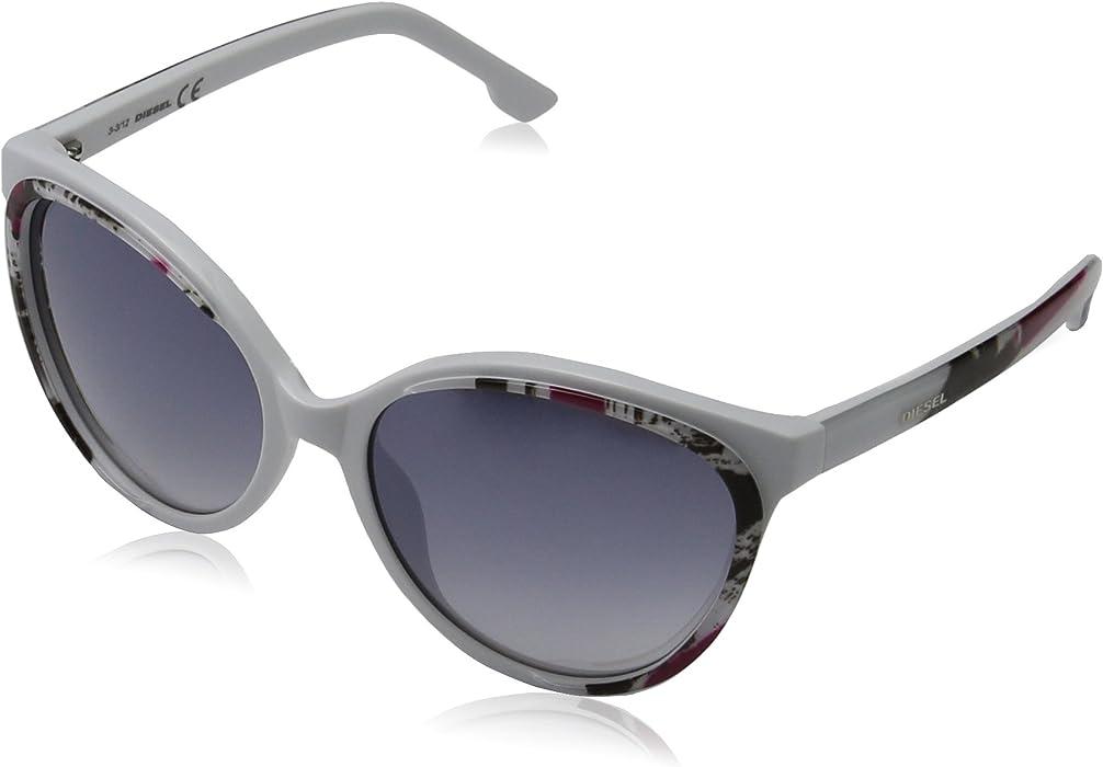 Diesel Mujer DL0009 5724C Gafas de sol, Blanco (Weiß), 53 ...