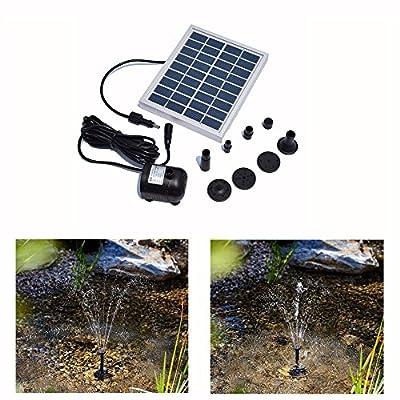 RivenAn 9V/2Watts Solar Pump, Solar Power Panel Kit Water Pump For Garden Pond Fountain Pool Plants Caring Bird bath