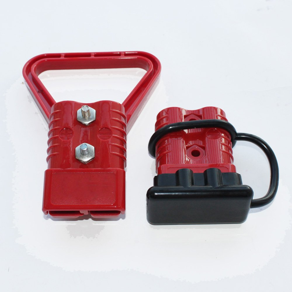X-Haibei Battery Quick Connector Disconnect Handle Cap Kit 350A Power Plug Red by X-Haibei