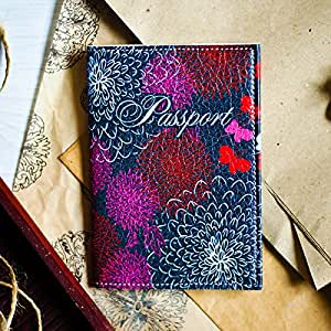 Amazon.com: Designer Passport Holder - Leather Passport ... Designer Passport Holder