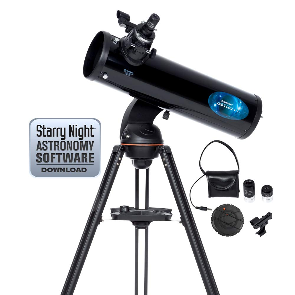 Celestron Astro Fi 130 Wireless Reflecting Telescope, Black (22203)