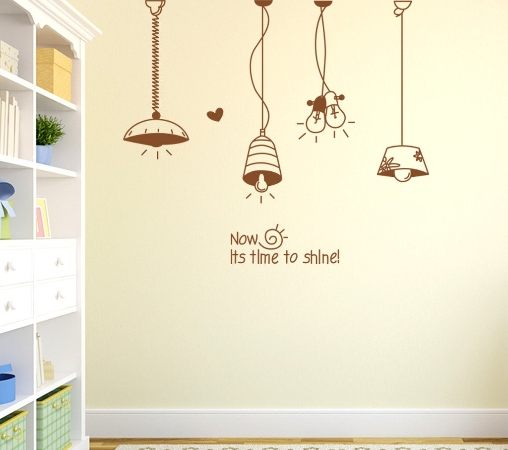 Buy decals design hanging light lamps wall sticker pvc vinyl 50 cm x 70 cm x 1 cm multicolour online at low prices in india amazon in
