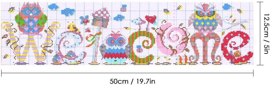 Weihnachtsgeschenke einfaches Muster Awesocrafts Kreuzstich-Set 3 V/ögel gestempelt oder gez/ählt Kreuzstich-Stickset V/ögel, gez/ählt
