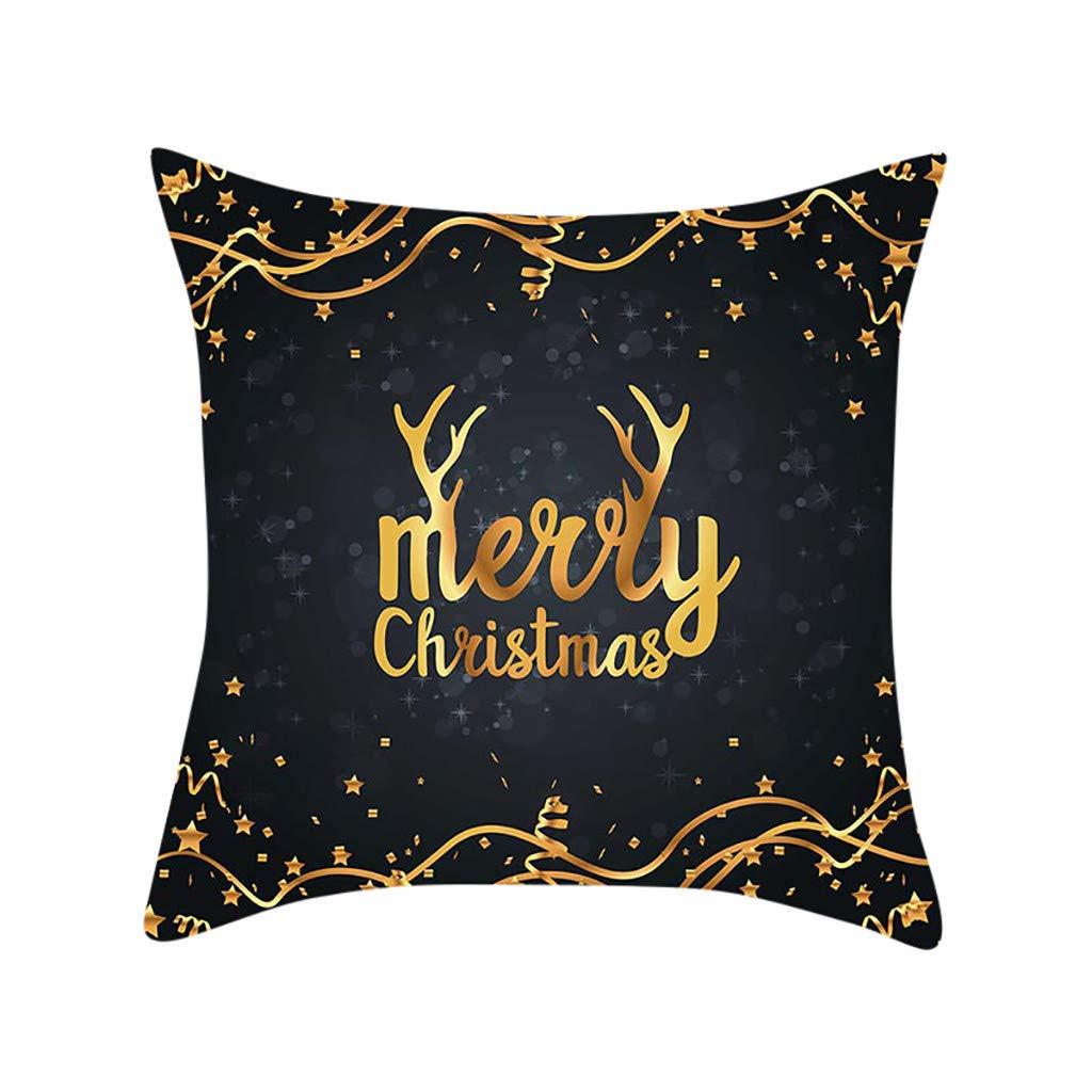 HEVÜY Housse de Coussin de Noël 45 x 45 cm - Motif Bonhomme de Neige - Décoration Confortable - Housse de Coussin de canapé - Housse de Coussin de Noël - pour canapé Festif, A-2, 45 cm x 45 cm