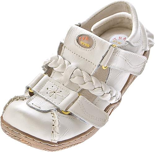 TMA Damen Leder Sandalen Comfort Schuhe Used Look echt Leder Ballerinas Slipper 1335 Gr. 36 42