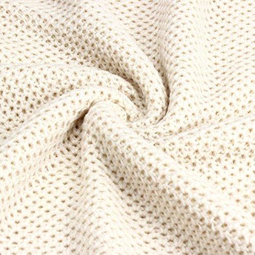 Transer ® Pull Femme,Sexy Manches longues O-cou en coton mélangé en vrac Pull Pull en maille Tricots Cardigan Tops (S-XL)