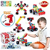 VATOS STEM Learning Toys Kit Original 550 PCS Educational Construction Engineering Building Blocks Set Creative Fun Best Toy Gift for Kids Age 6+ Years Old Boys & Girls