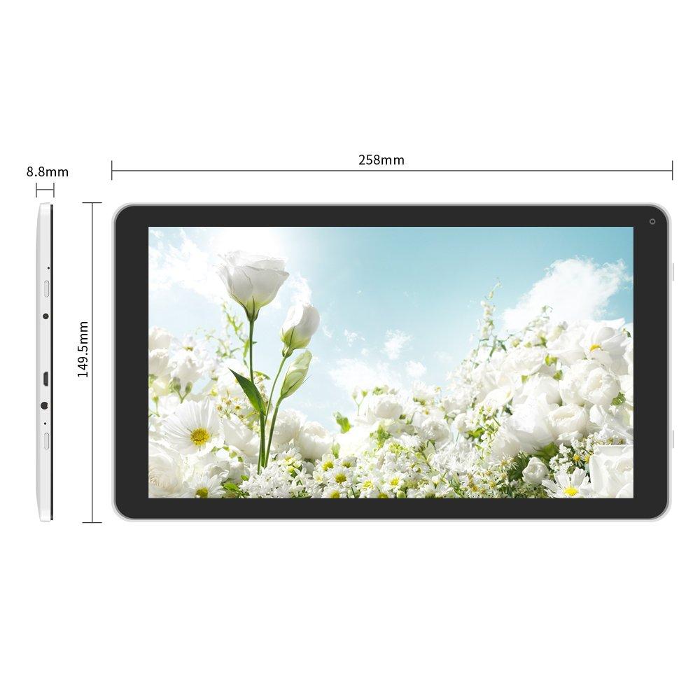 YUNTAB D102 10.1 pulgadas Tablet 1G+8G Android 6.0,A33 Quad-core CortexTM-A7 1.5GHz 1024*600 - Doble cámara - Bluetooth 4.0- Wifi SZ-wave