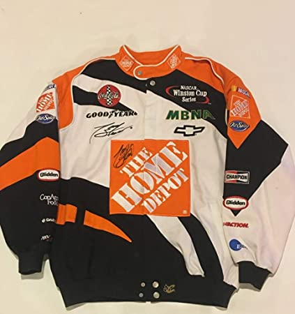 f45d4f2f5 TONY STEWART SIGNED #20 HOME DEPOT RACING JACKET CHASE COAT SMOKE EXACT  PROOF at Amazon's Sports Collectibles Store