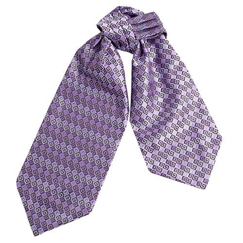 Necktie Silk Pleated (CRT001-Mens Silk Feel Elegant Cravat Classic Ascot Tie in Diamond Pattern)
