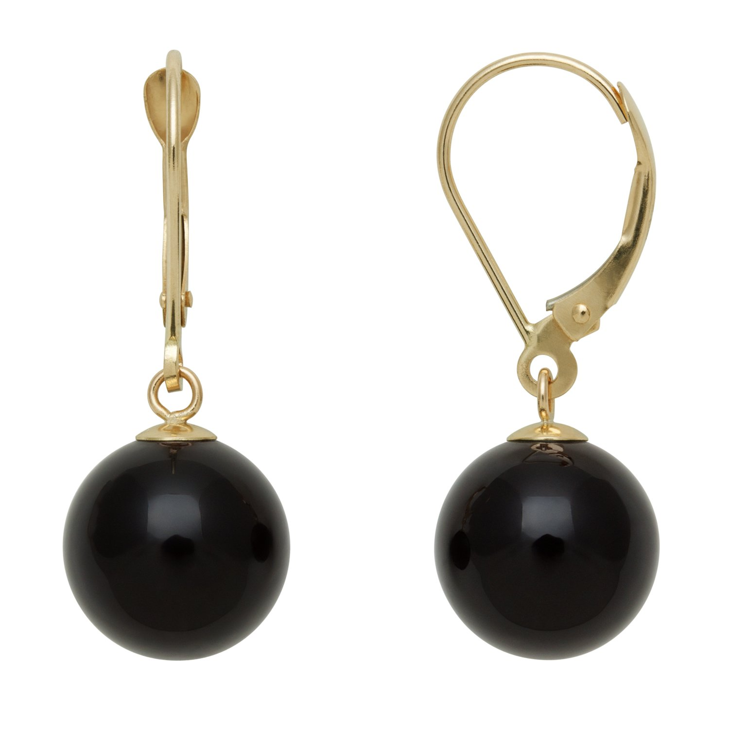 earrings black hoop onyx
