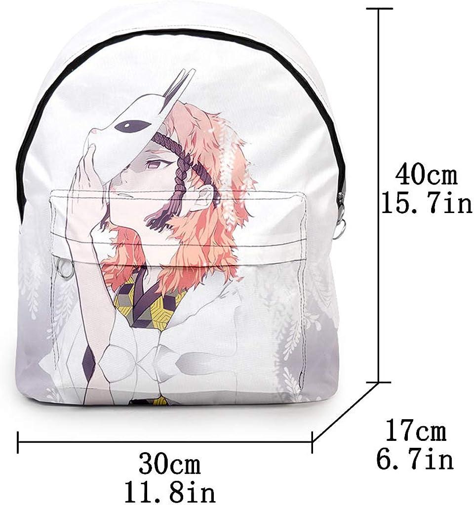 Demon Slayer Anime Backpack 3D Print for Men Boys Kimetsu No Yaiba Canvas Laptop Shoulder School Bag Travel Bag Women Girls