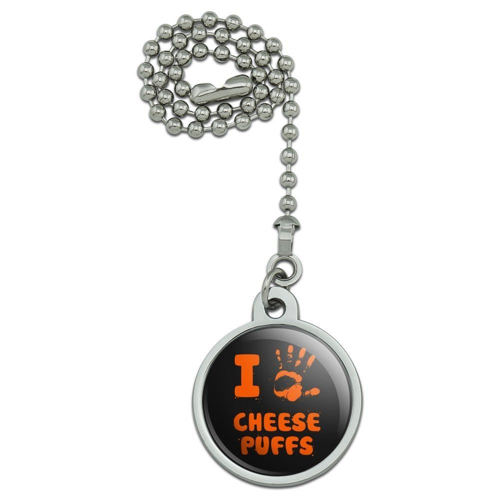 Gatton I Love Cheese Puffs Hand Print and Crumbs Funny Ceiling Fan and Light Pull Chain