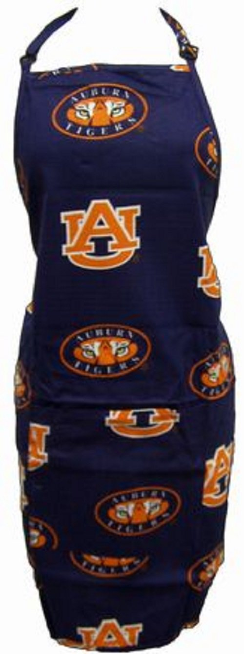 Auburn Tigers Grilling Apron and Set of (12) - Auburn Tigers Placemats w/ Border - Great for the Kitchen, or that Next Picnic or Tailgate Party! - Save Big By Bundling! -