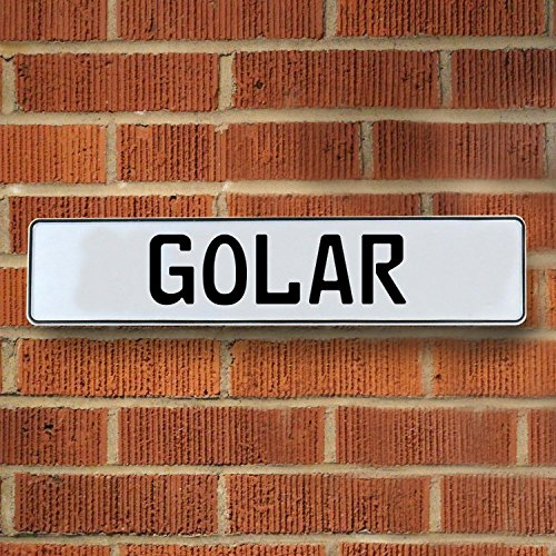 Vintage Parts Usa Vpay1aa53 Golar White Stamped Aluminum Street Sign Mancave Wall Art