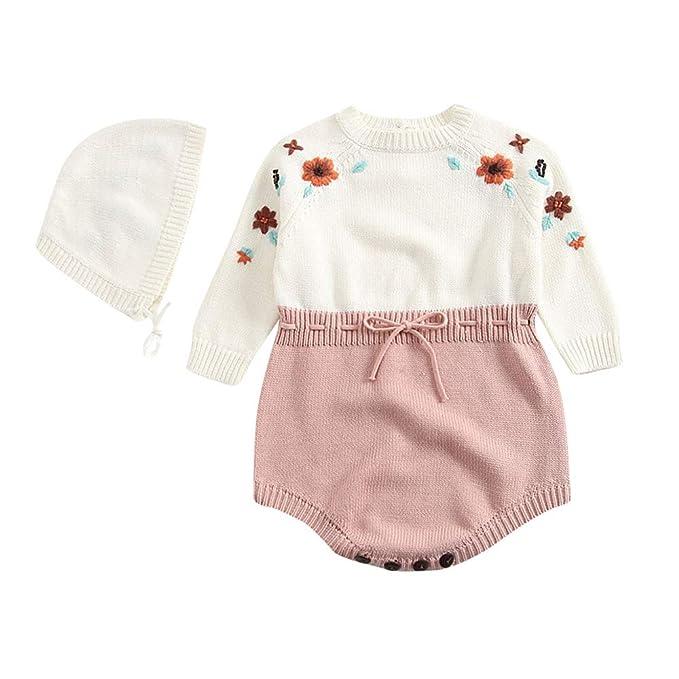 Ropa Bebé Unisex Tefamore Mameluco de Bebé de Otoño e Invierno Ropa de Niños